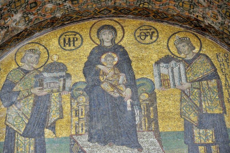 comnenus hagia Istanbul mozaik sophia obrazy stock