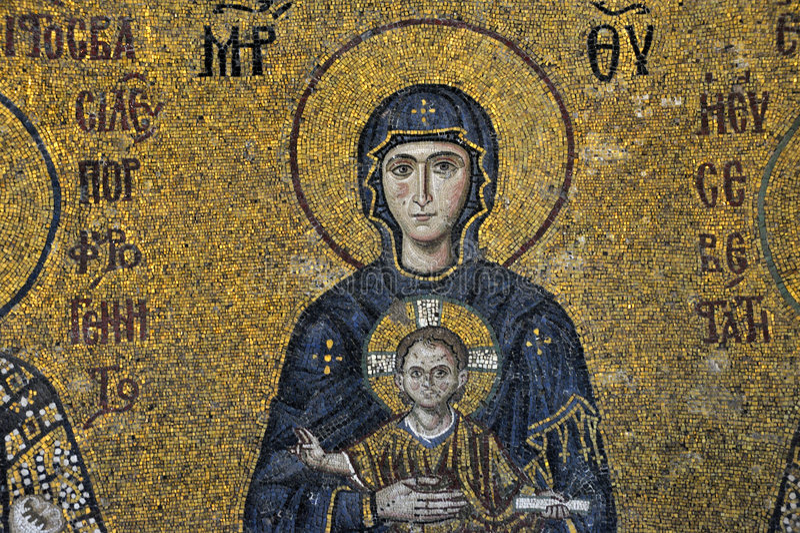 Download The Comnenus Mosaics, Hagia Sophia, Istanbul Stock Photo - Image: 6793452