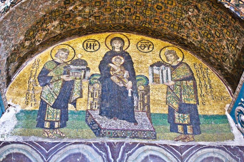 Comnenus mozaiki obraz stock