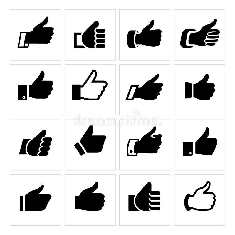 Como, ajuste ícones ilustração royalty free