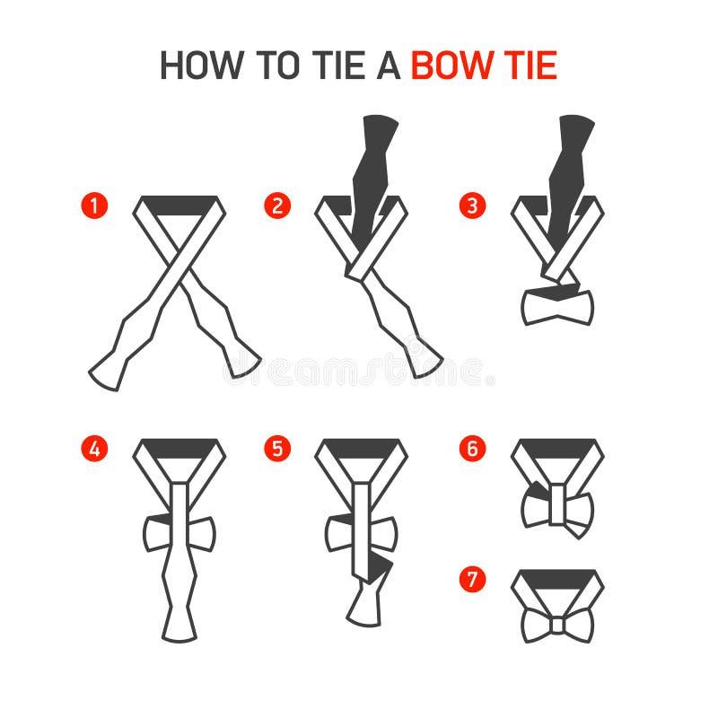 Como amarrar um laço ilustração royalty free
