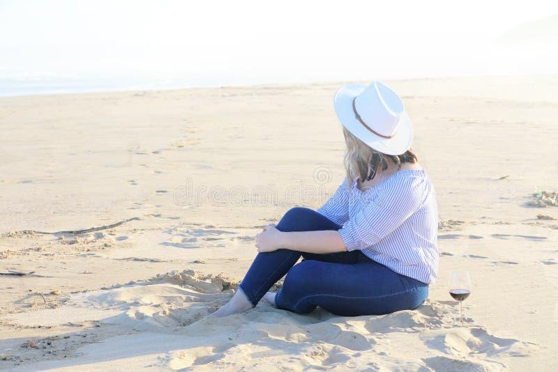 Como bonito ter a praia para mim mesmo imagem de stock