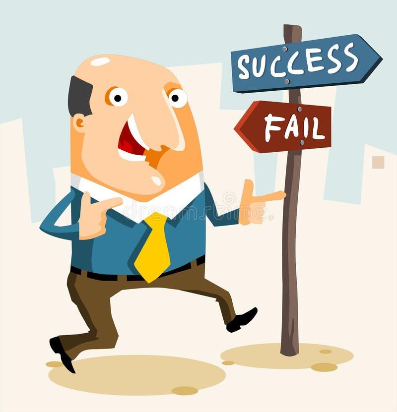 Como começ o sucesso ilustração stock