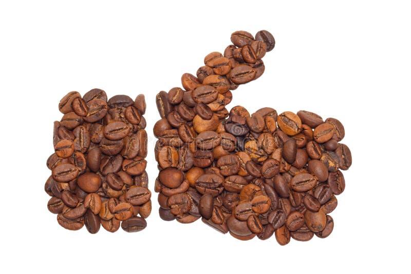 Como de los granos de café imagen de archivo