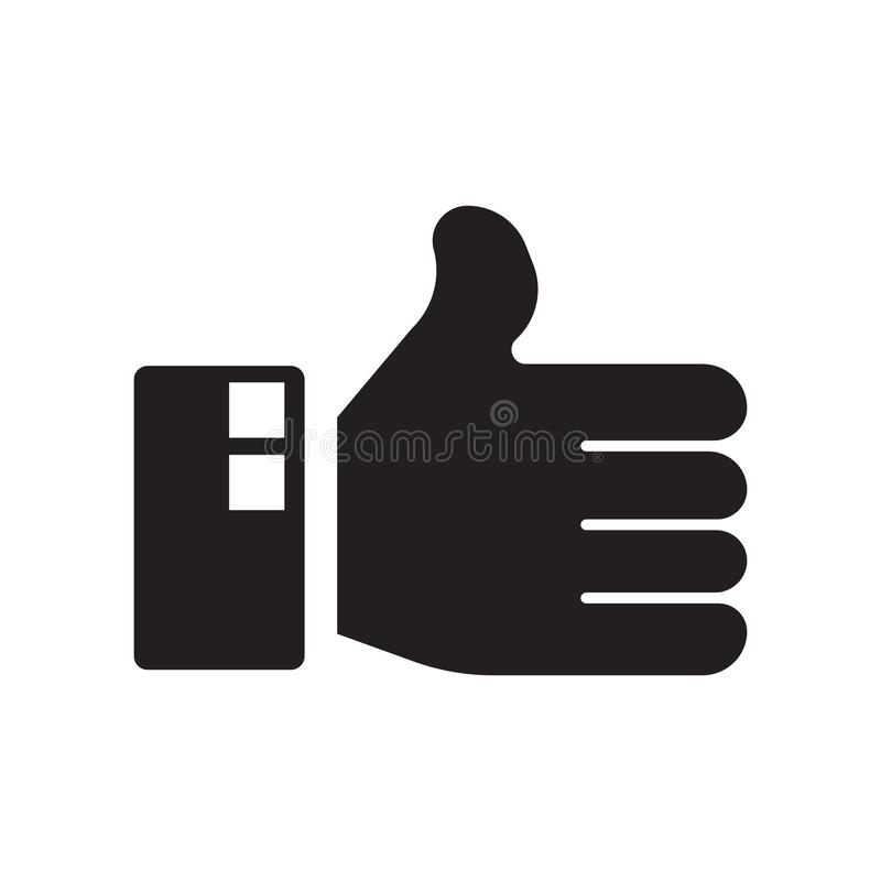 Como el vector del icono aislado en el fondo blanco, como muestra libre illustration