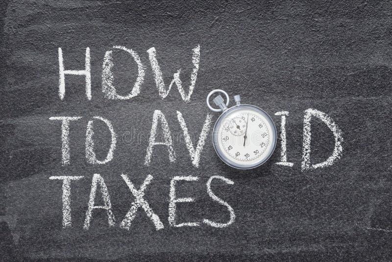 Como evitar impostos fotografia de stock royalty free