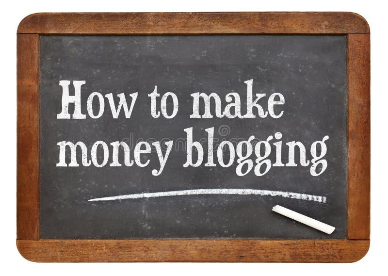 Como fazer o dinheiro que blogging foto de stock royalty free