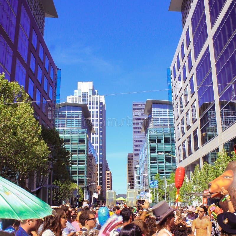 Como festival estranho em San Francisco fotos de stock