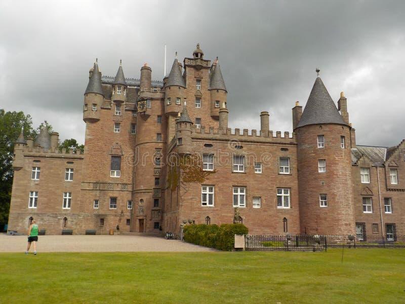 Como fora de um conto de fadas - castelo de Glamis, Escócia imagens de stock