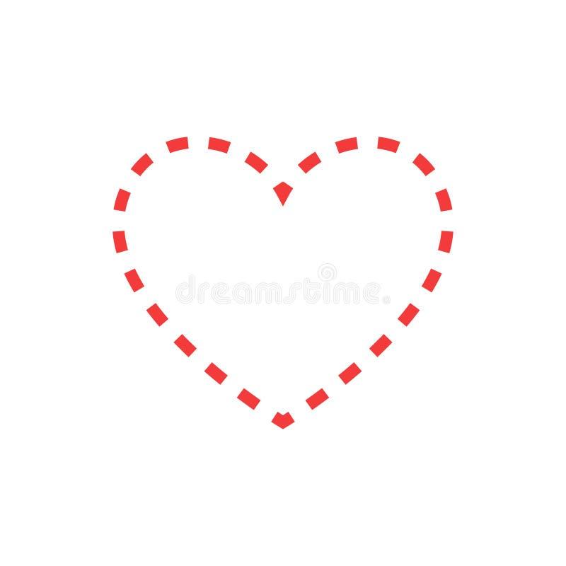 como Forma y latido del corazón rojos healthcar del corazón Ilustración del vector stock de ilustración