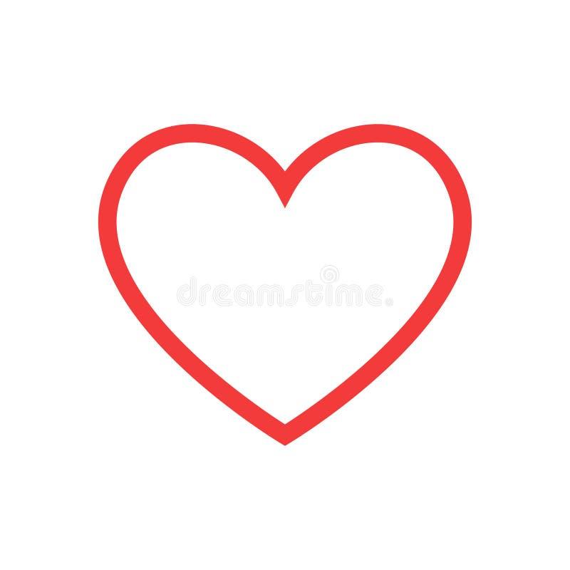 como Forma y latido del corazón rojos healthcar del corazón Ilustración del vector libre illustration