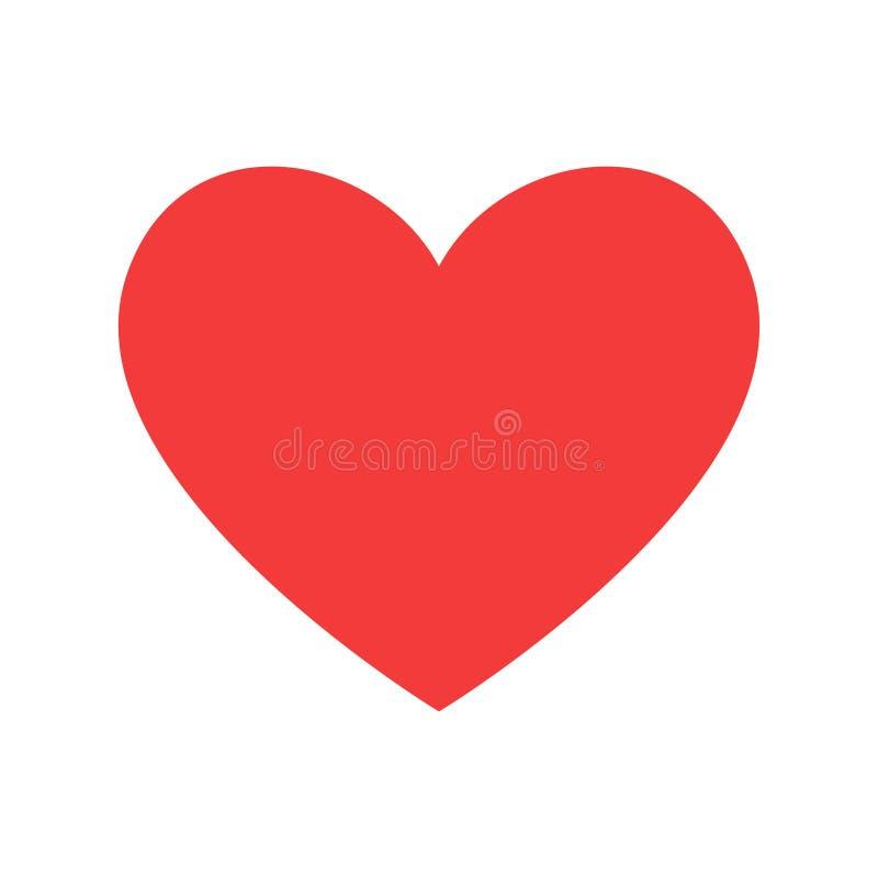 como Forma y latido del corazón rojos healthcar del corazón Ilustración del vector ilustración del vector