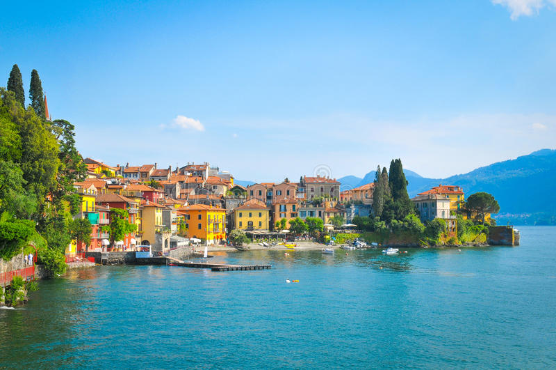 como Italy jezioro zdjęcia stock