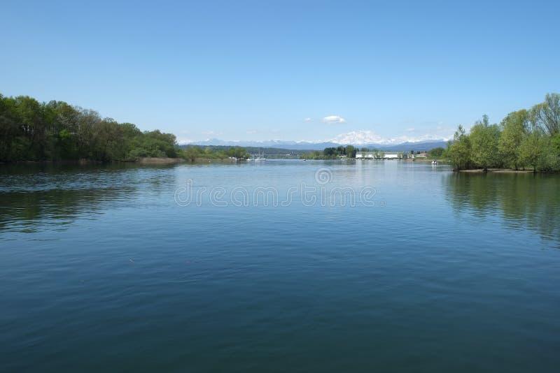 Como jeziora krajobraz, Włochy fotografia stock