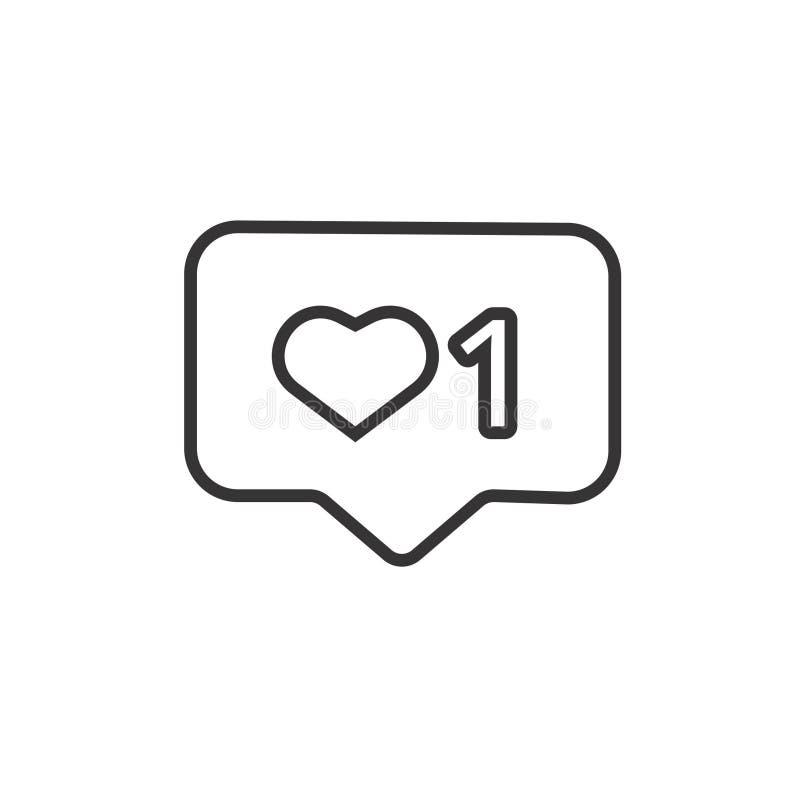 Como la línea vector del instagram del icono libre illustration