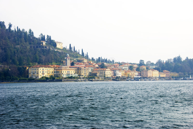 Como lake. A view of Bellagio from Como lake in Italy royalty free stock photo