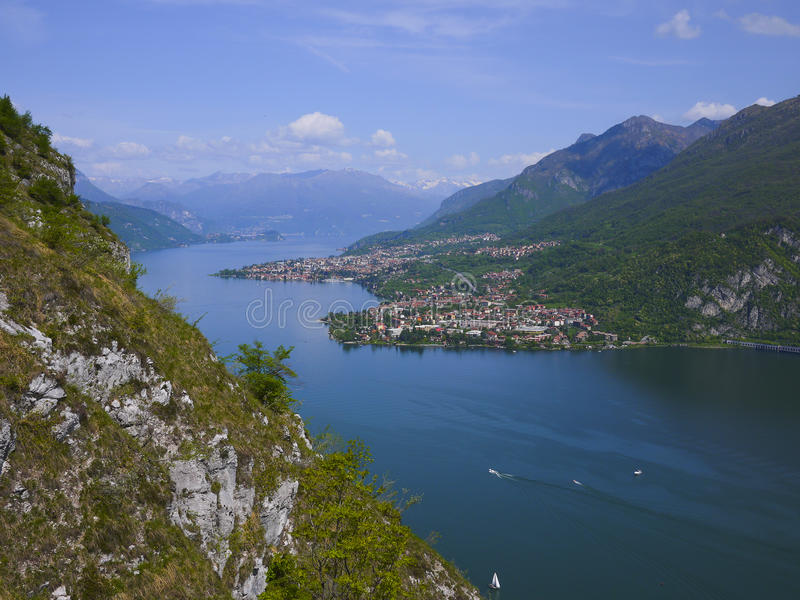 Download Como and Lecco lake stock photo. Image of spring, view - 31264018