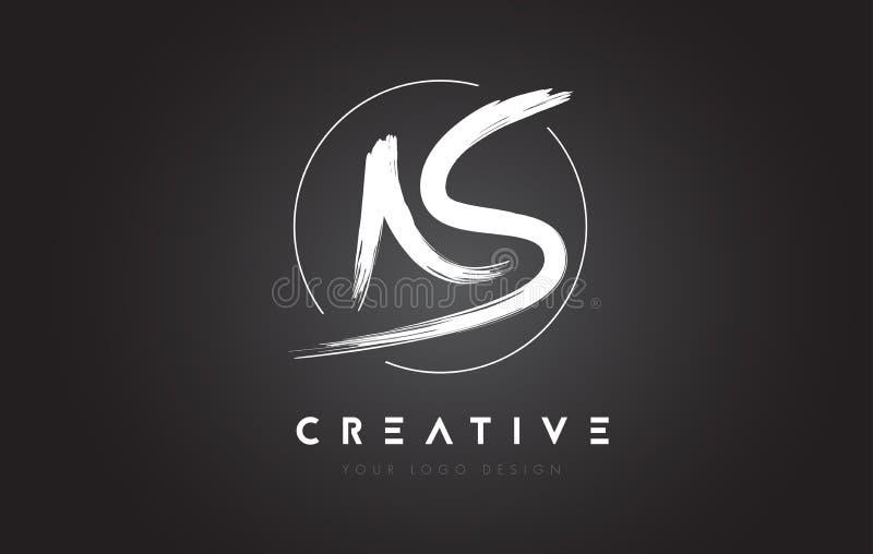 COMO letra Logo Design da escova Logotipo escrito à mão artístico C das letras ilustração stock