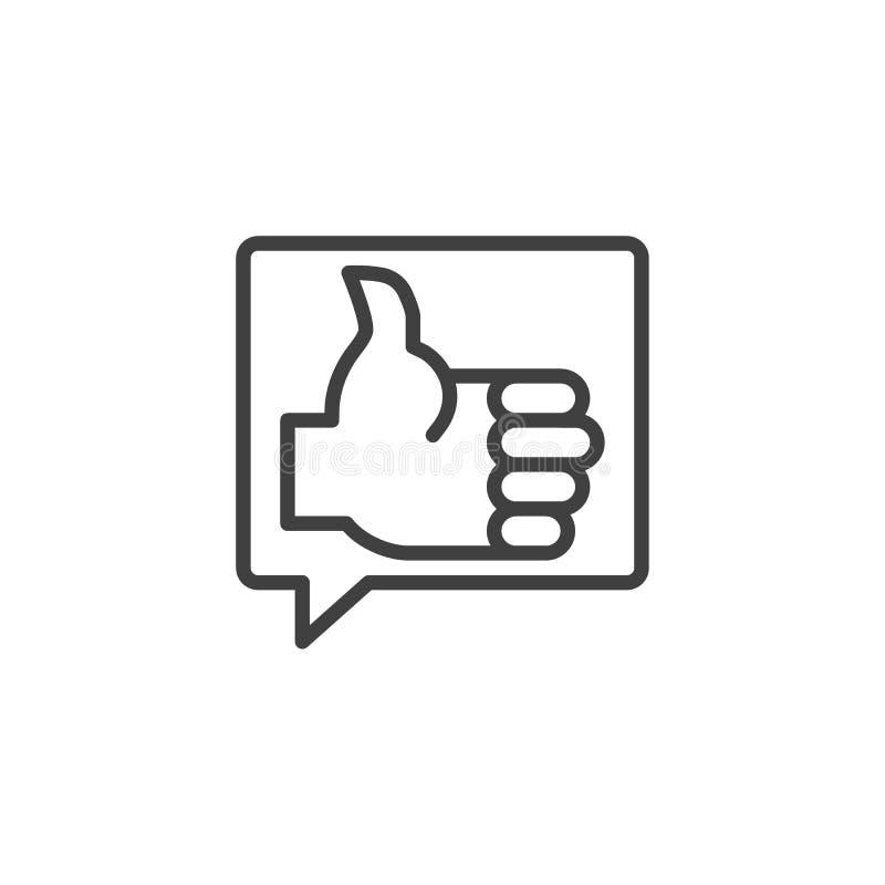 Como a linha ícone do feedback ilustração royalty free