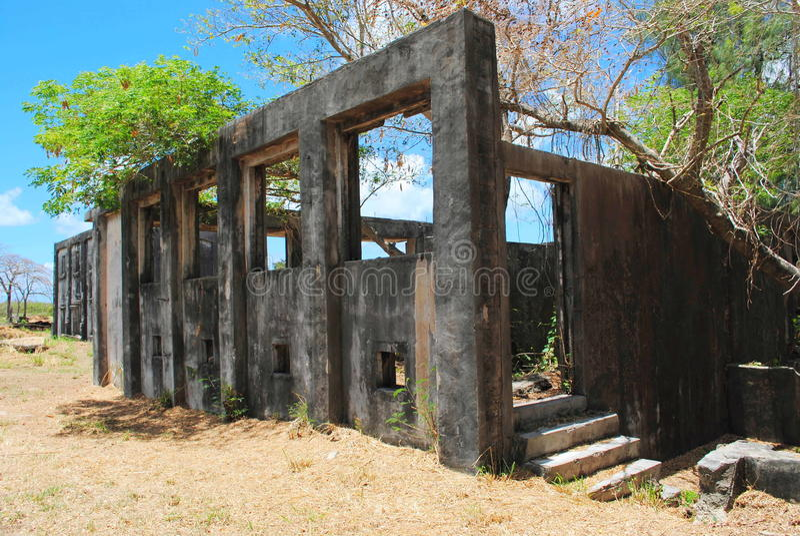 Como Lito Airfield Ruins, Saipán imagen de archivo libre de regalías