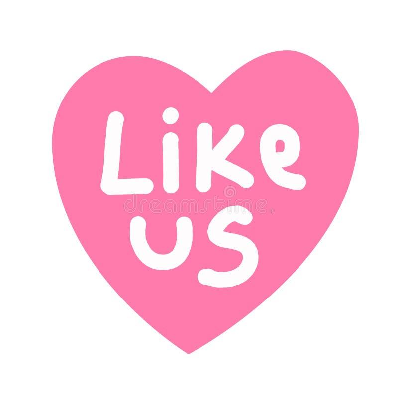 Como nós citações no coração cor-de-rosa fotos de stock