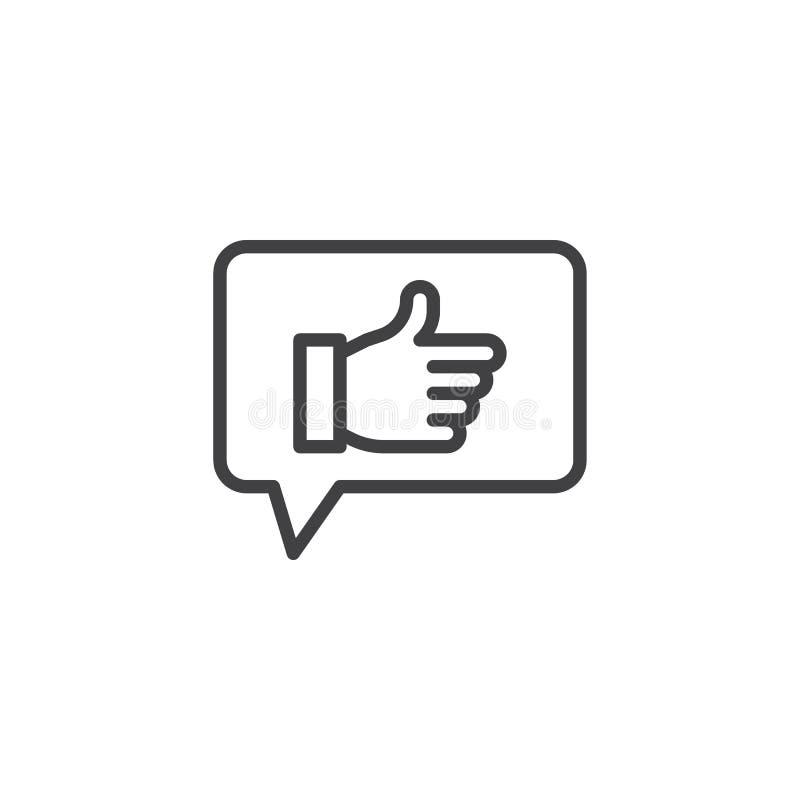 Como o ícone do esboço do feedback ilustração royalty free