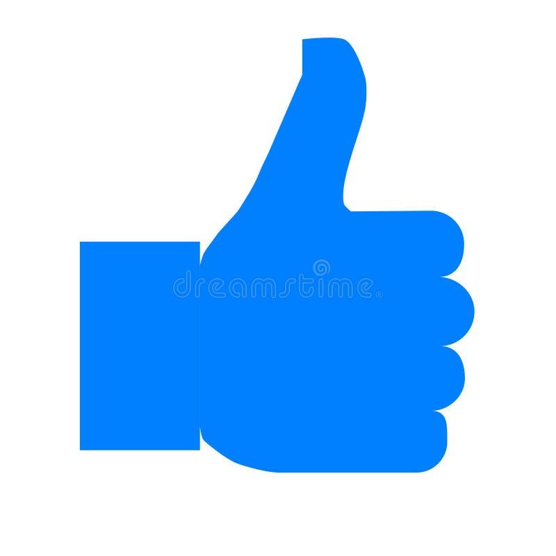 Como o ícone do símbolo - simples azul, isolado - vetor ilustração do vetor