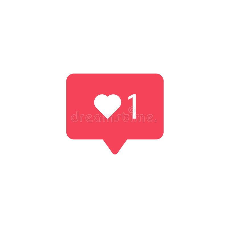 Como o ícone Engrena o ícone Os meios sociais gostam do sinal Bolha da notificação Elemento para o app ou o Web site móvel da rel ilustração do vetor