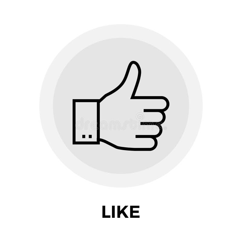 Como o ícone liso ilustração stock