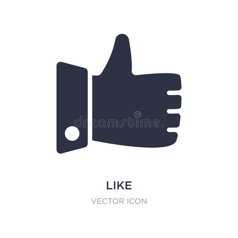 Como o ícone no fundo branco Ilustração simples do elemento do conceito do Blogger e do influencer ilustração stock