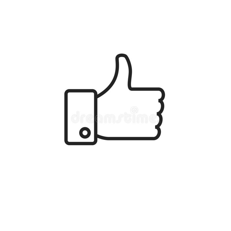 Como o ícone, o símbolo ou o logotipo do vetor do esboço ilustração royalty free
