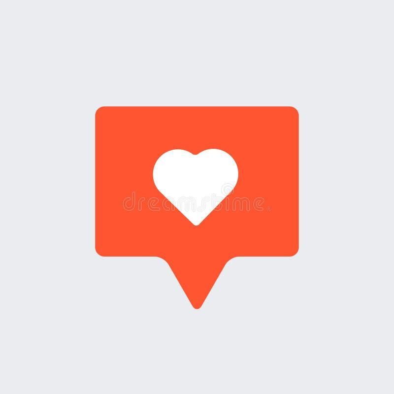 Como o ícone social dos meios da notificação ilustração do vetor