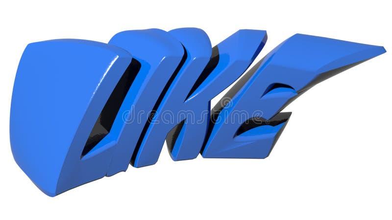 Como o azul ilustração do vetor