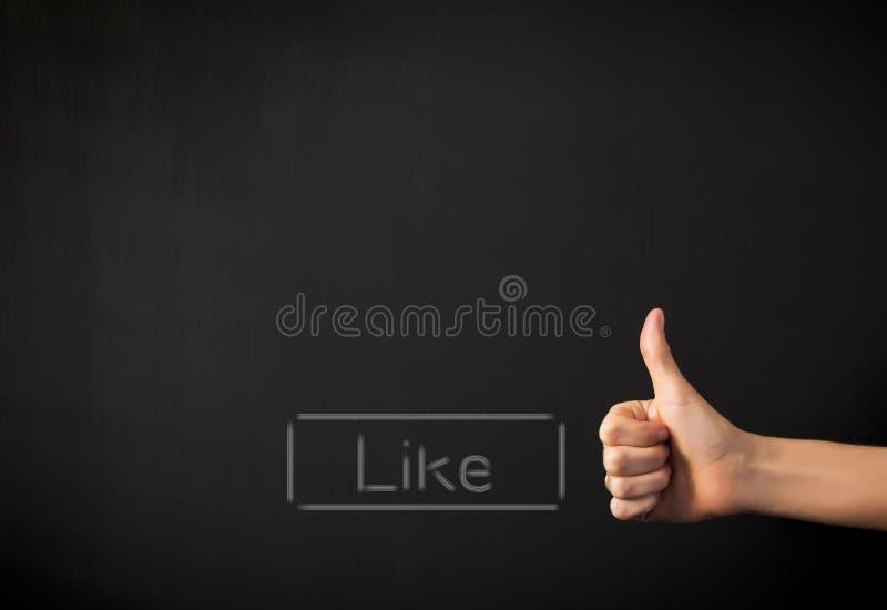 Como o botão e o polegar acima fotografia de stock royalty free