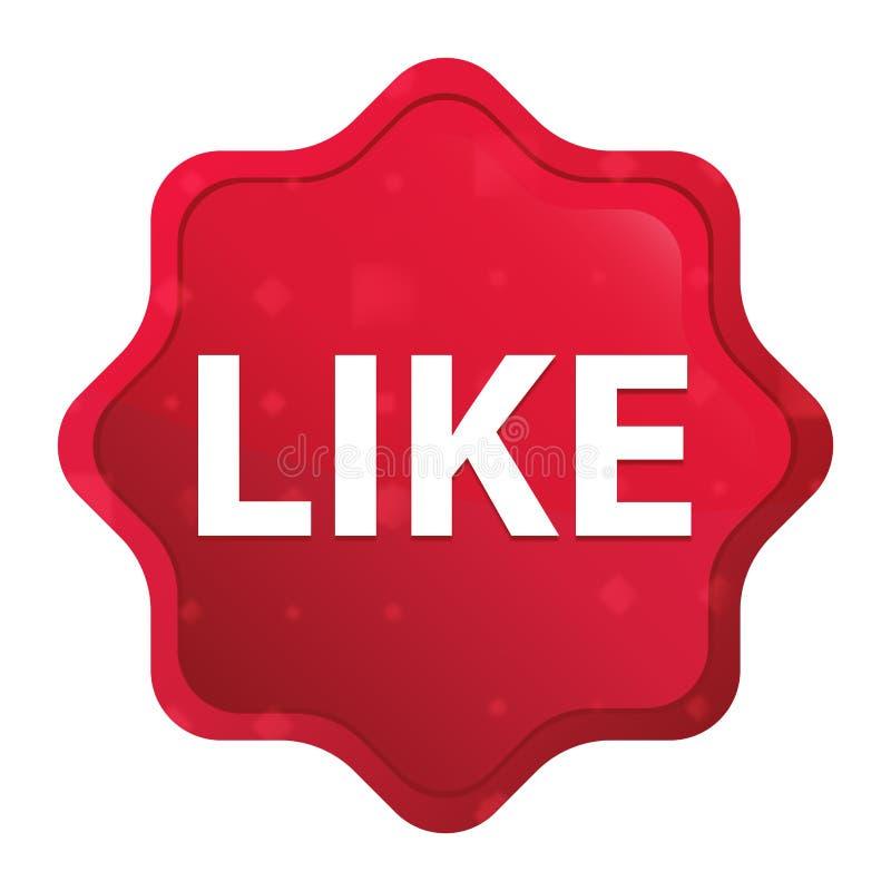 Como o botão vermelho cor-de-rosa enevoado da etiqueta do starburst ilustração royalty free