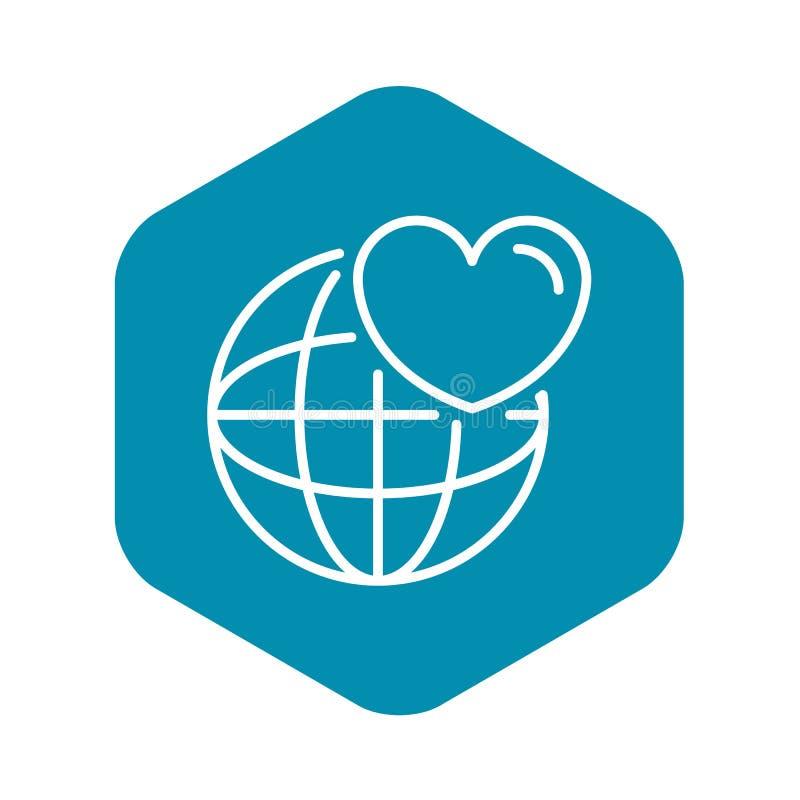 Como o ?cone global do blogue, estilo do esbo?o ilustração stock