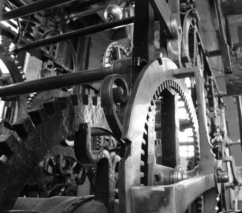 Como o maquinismo de relojoaria imagem de stock