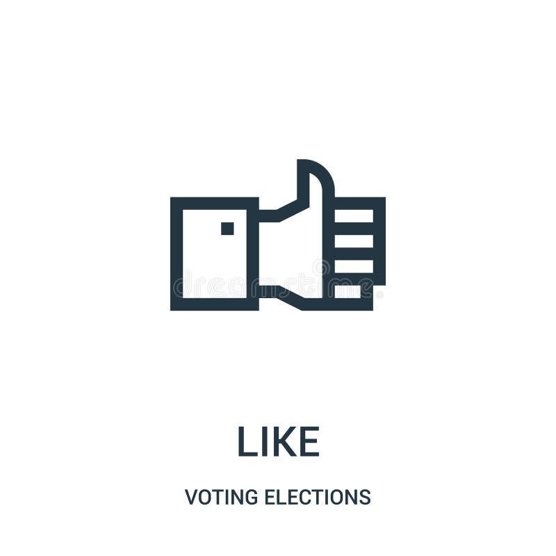 como o vetor do ícone da coleção de votação das eleições Linha fina como a ilustra??o do vetor do ?cone do esbo?o ilustração do vetor