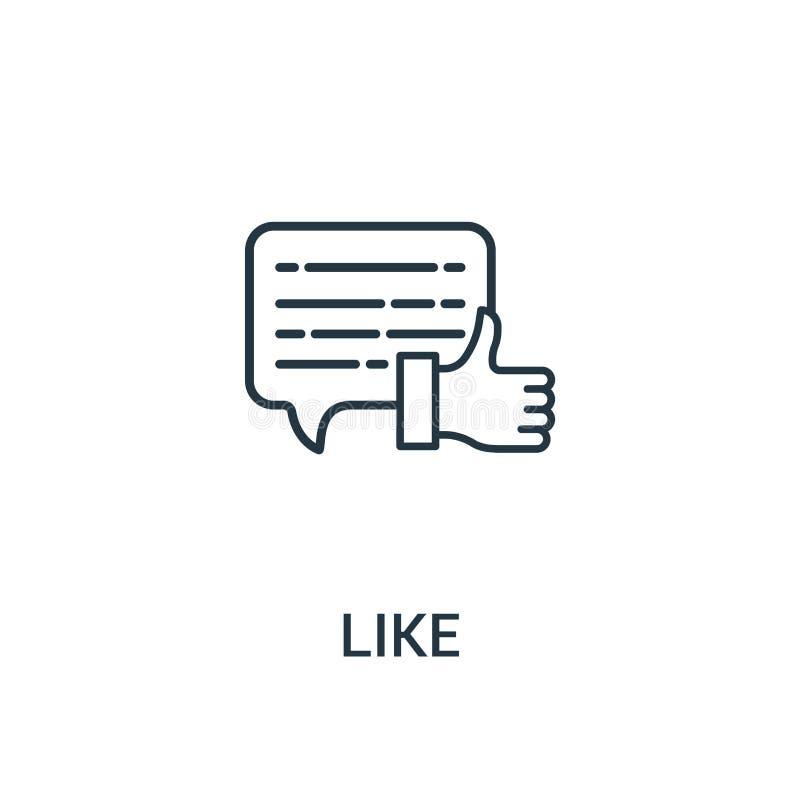 como o vetor do ícone da coleção dos anúncios Linha fina como a ilustração do vetor do ícone do esboço Símbolo linear para o uso  ilustração do vetor