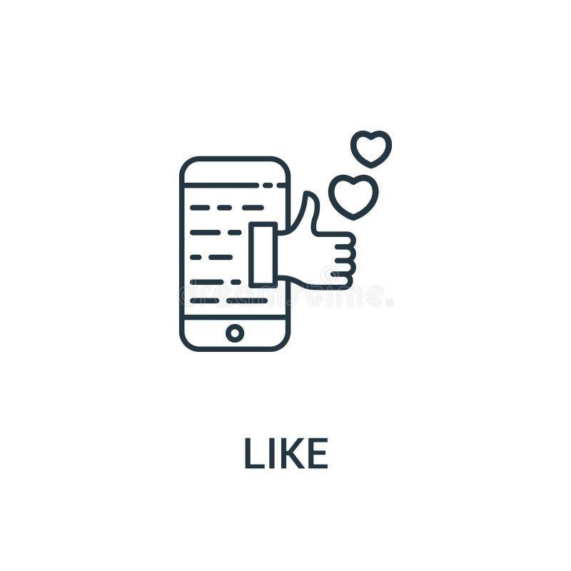 como o vetor do ícone da coleção dos anúncios Linha fina como a ilustração do vetor do ícone do esboço Símbolo linear para o uso  ilustração stock