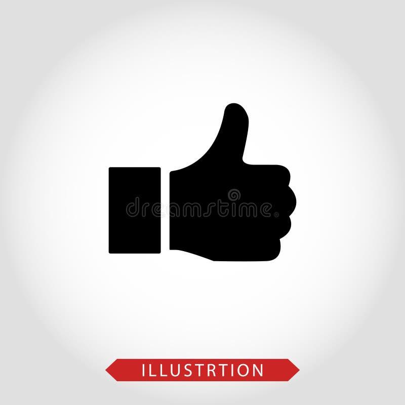 Como o vetor do ?cone Os polegares levantam o ?cone ?cone social dos meios Como e do desagrado ?cone Polegares acima e polegares  ilustração royalty free