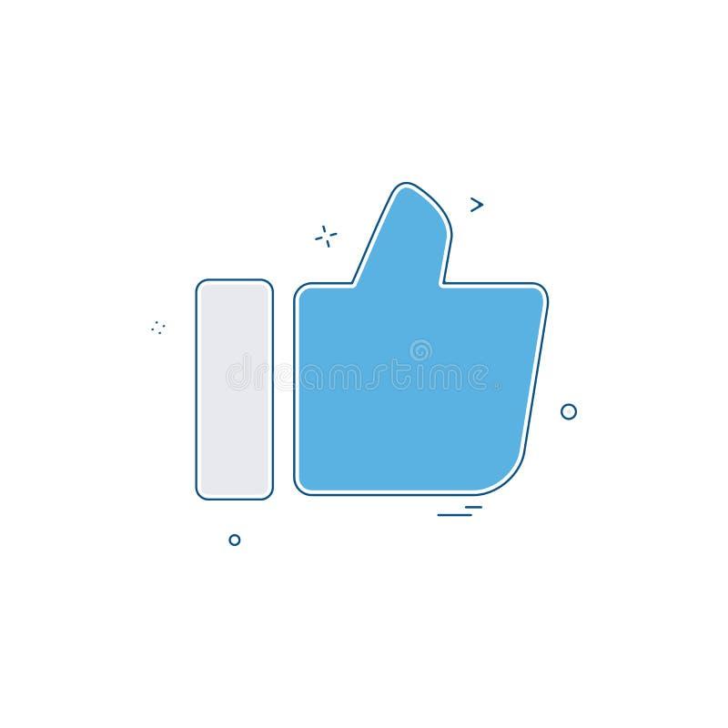 Como o vetor do projeto do ícone ilustração stock