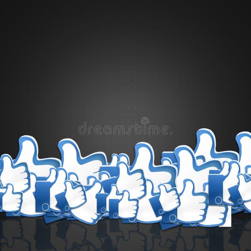 Como os polegares acima ilustração do vetor