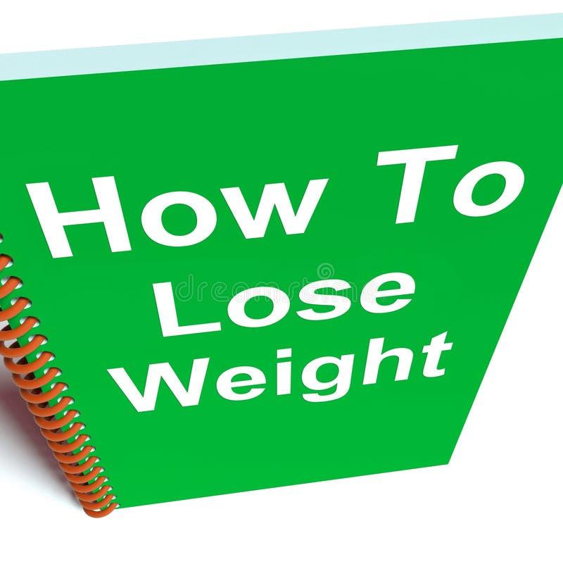 Como perder o peso no caderno mostra a estratégia para a perda de peso ilustração royalty free