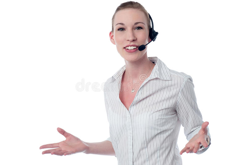 Como posso eu lhe ajudar? imagens de stock royalty free