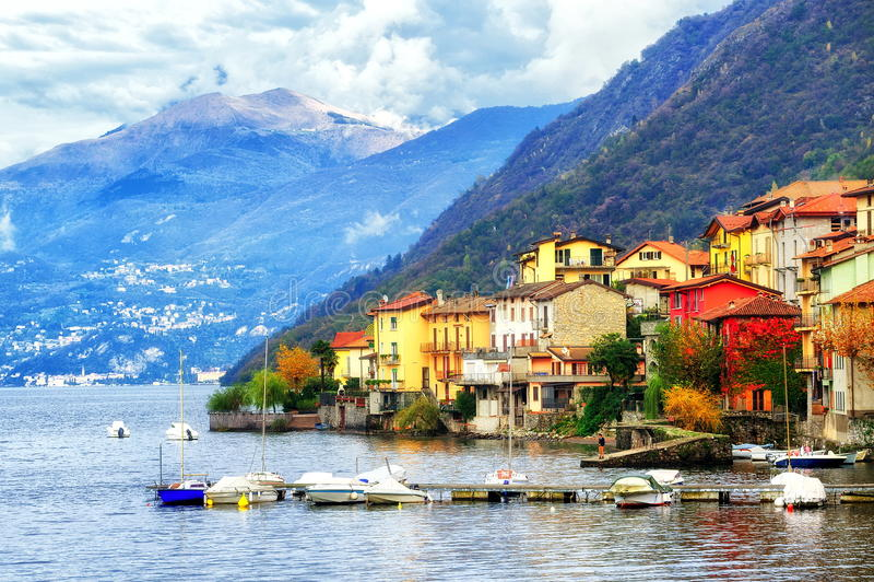 Como See, Italien stockfotografie