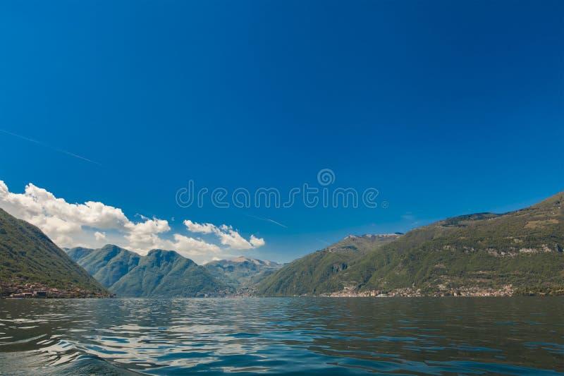 Como Sjö Lago di Como, Italien royaltyfri bild