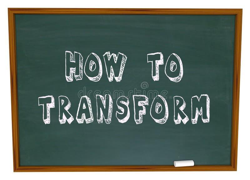 Como transformar instruções da educação da informação do quadro ilustração royalty free
