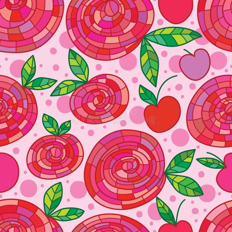 Como um teste padrão sem emenda da maçã cor-de-rosa ilustração stock