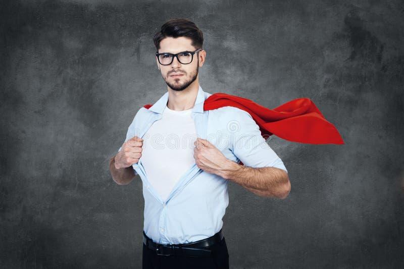 Como un super héroe foto de archivo libre de regalías
